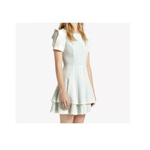 1971 Reiss Hestia white frill layer lace dress